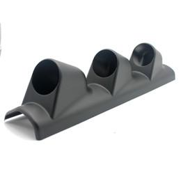 "52mm Gauge Holders Australia - Auto Car Gauge Pod Holder 3 Holes Triple Gauge Meter Mount 2"" 52mm Universal A Pillar Left Hand Drive Black"