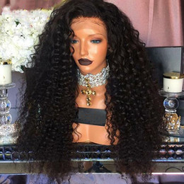 Discount afro hair wigs for african woman - High Quality African American Wigs Heat Resistant Afro Kinky Curly Black Wigs Synthetic Lace Front Wigs With Baby Hair f