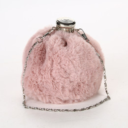 $enCountryForm.capitalKeyWord UK - Fluffy dinner bag Bottle shape plush evening banquet bag Ladies chain satchel bag Three-dimensional fashion style for ladies best price