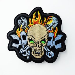 ea9f36ee Skull Mend Embroidery Patches Punk Hippie Iron On Sewing Applique Badge Clothes  Patch Stickers For Jackets Jeans Garment Accessories
