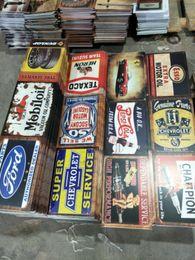 Heron gtx águia lengend campeão Garage Gasolin Motor Óleo da cerveja Retro rústico sinal do metal da lata Decoração Da Parede Do Vintage Estanho Cartaz Cafe Shop Bar casa em Promoção