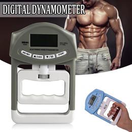 Vente en gros 90kg / 198Ib Numérique LCD Dynamomètre Main Poignée Mesure de Puissance Body Building Gym Exercices Mucle Gripper Force Mètre