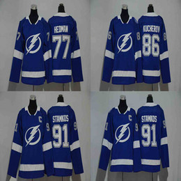 stamkos jersey cheap Canada - Lady 77 Victor Hedman Jersey 2017-2018 Season 86 Nikita Kucherov 91 Steven Stamkos Tampa Bay Lightning Women Hockey Jerseys Cheap