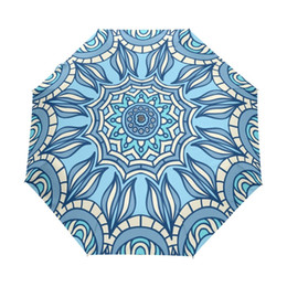 $enCountryForm.capitalKeyWord Australia - Blue Indian Mandala Bohemian Pattern Umbrella Fully Automatic Folding Umbrella for Men Adult Parasol Paraguas Women Umbrellas