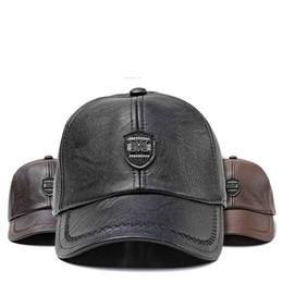 6fd509ec2ee 2018 Russia winter Warm Leather Baseball Cap With Ears Pu Snapback Hats For  Men Women men caps high quality custom hat dad hat