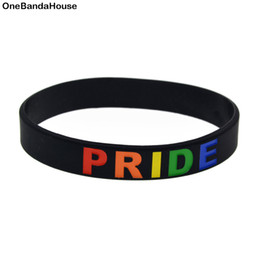 Glow Party Decorations Australia - Wholesale 100PCS Lot Classic Decoration Bracelet Rainbow Colour Logo Pride Silicone Wristband Wear This Bangle To Show Your Difference