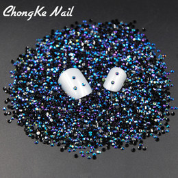Chinese  Hot Sale 2000pcs Black AB Magic Color Jelly 2mm Resin Rhinestone Nail Art Phone Stick Rhinestones Non hotfix Use Glue manufacturers