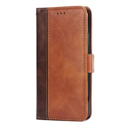 Iphone Case Double Card NZ - Vintage Double Color Stitching Leather Wallet Phone Case for iPhone X 5 6 7 8 Plus and Samsung Galaxy S8 S9 Plus etc