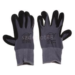 Micro Oil Australia - Nitrile Micro-Foam Coated Gloves Oil Proof Wearproof Breathable Work Gloves S M