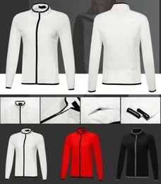 spring jackets for women NZ - 2018 P golf jacket Spring Autumn dry fit windproof light thin two layers sport wind coat for women 3 color OEM available