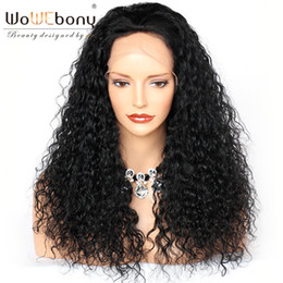 Deep Curly Indian Lace Wig Australia - WoWEbony Human Hair Glueless Lace Frontal Wigs & Full Lace Wigs For Black Women Indian Remy hair Deep Curly Natural Pre-plucked Hairline