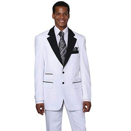 $enCountryForm.capitalKeyWord Canada - White Men Suits Wedding Suits Custom Made Two Buttons Notched Lapel Groom Tuxedos Slim Fit Best Man Blazers 3 Pieces jacket Pants Vest