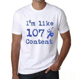 Ingrosso Sono come 100% di contenuti, Sono Come Il 100%, Slogan Maglietta Uomo Regalo 00324
