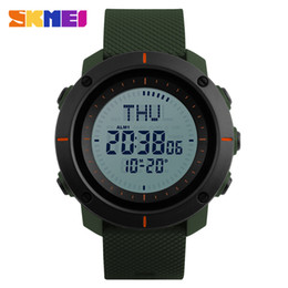 654fdb5c641 SKMEI Men Fashion Sports Watches Compass Watch 3 Alarm Repeater Chronograph  Back Light 50M Waterproof Digital Wristwatches 1216