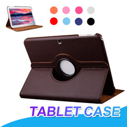 Flip cover rotating tablet online shopping - 360 Degree Rotating Stand Flip PU Leather Case Cover For iPad Air iPad Pro Samsung Tablet T550 T580 T585 T815 T560
