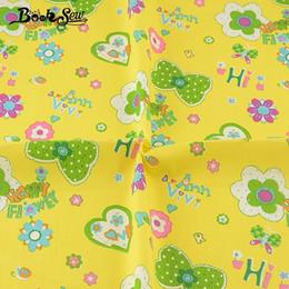 Textile Materiale Patchwork Giallo Design tessile DIY Telas Cucito 100% cotone Twill tessuto floreale bambino Scrapbooking Dress