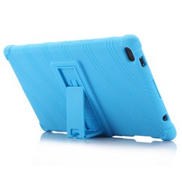 $enCountryForm.capitalKeyWord Australia - Wholesale Soft Silicon Shockproof Back Cover for Lenovo TAB4 8 (8504) Silica Gel Protective Drop with Stand for Lenovo 8 Inch Tablet PC