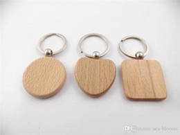 6 Styles Personalized DIY Blank Wooden Keychains EDC Wood Keyring Square Round Heart Shaped Best Souvenir Gift Car Key Chain Ring D274LR from druzy pendants natural manufacturers