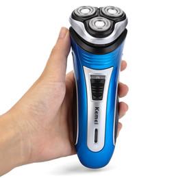 Kemei KM-2801 удобная перезаряжаемая тройная плавающие головки электробритва бритва Борода с триммером для мужчин
