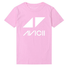 pink dj shirts 2019 - Music Dj Avicii T Shirt Fashion Printed Short Sleeves T-shirt O Neck Summer Casual Wake Me Up WomenTops Tee Streetwear S