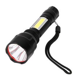 Bicycle Flashlights Australia - COB LED XML-T6 led flashlight tactical torch for bicycle Camping lights penlight flash light 18650 batteryb portable light