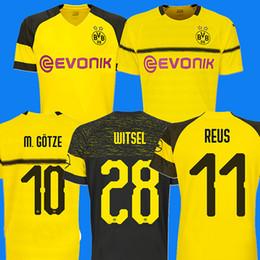 da0e563373dcb Borussia Dortmund campeão campeão 18 19 camisa de futebol camisa de futebol  REUS PULISIC KAGAWA BATSHUAYI GOTZE Camiseta 2018 2019 SANCHO maillot