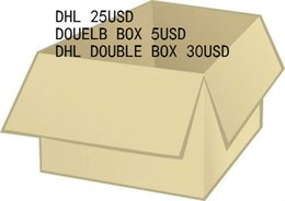 Chinese  Extra payment fee for double box 5usd and dhl fee 20usd,dhl double box 35usd size 35-48 manufacturers