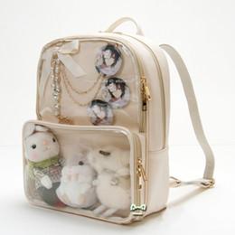 5 colors Kawaii Clear Transparent Lolita Harajuku Student School Bag  Backpack Candy Color Lovely Ita Bag Sweet Cute Girl Gift Itabag bookbag 4964fb3a3715