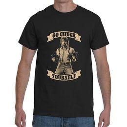 5d9f084b4a79 Chuck Norris Go Chuck Yourself Funny Short Sleeve Black Men s T-Shirt Size  S-5XL