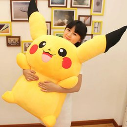 Discount japan presents 47''   120cm Japan Anime Pikachu Stuffed Soft Plush Giant Pikachu Toy Nice Present for Baby Free Shipping