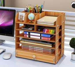 Book Shelves NZ - Office Supplies Storage Box Multi-layer Desktop Shelves Simple Bookshelf Six-story Desktop Storage Box