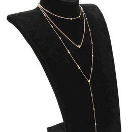 Wholesale Metal Chokers UK - M MISM Fashion Multi Layer Necklace Long Gold Chain Boho Jewelry Women Metal Kettingen Voor Vrouwen Heart New Bff Erkek Kolye