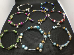 10 Cores de Água Doce Pérola Beads Pulseira Moda Natural Pérola Jóias Pulseira Ajustável Encantos Presente das Mulheres Amor Desejo Pérola Jóias venda por atacado
