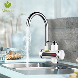 ElEctric taps online shopping - 220V Instant Tankless Water Heater Tap Instantaneous Faucet Bathroom Kitchen Fast Electric Faucet Crane Instant Hot Water