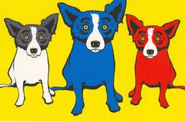 $enCountryForm.capitalKeyWord Australia - George Rodrigue Animal Three Dogs,Oil Painting Reproduction High Quality Giclee Print on Canvas Modern Home Art Decor