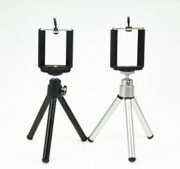 Rotação universal mini metal tripé suporte suporte com clipe de telefone para câmera do telefone móvel para o iphone samsung