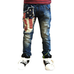 $enCountryForm.capitalKeyWord Canada - Newborn Sport Jeans Children Baby Boy Clothes Baby Kids Boys Printing Zipper Stretch Jeans Pants Elastic Waist Denim Trousers
