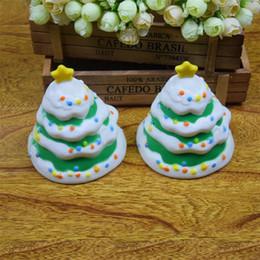 Animal Cake Designs Canada - Squishy Simulation Christmas Tree Creative Design Slow Rising Holiday Theme Jumbo Pu Squishies Soft Cake Decoration Novelty Toy 10 5ym Z