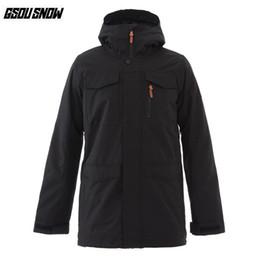 98ebc07c6d Winter Ski Clothing Brands Australia - GSOU SNOW Brand Ski Jackets Men  Winter Waterproof Windproof Breathable