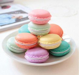 Wholesale Boxes Packaging Australia - Macaroon Jewelry Box Package For Earrings Ring Necklace Pendant Small Jewelry Packaging Mini Cute Carrying Cases 4x4x2cm