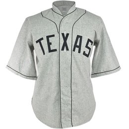 Texas Baseball UK - Texas Black Spiders 1938 Road Jersey 100% Stitched Embroidery Logos Vintage Baseball Jerseys Custom Any Name Any Number Free Shipping