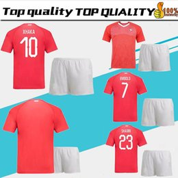 a4eacad13 2018 Men kits Switzerland adult kit Soccer Jersey 18 world cup EMBOLO XHAKA Switzerland  Jerseys SHAQIRI ZAKARIA EMBOLO FOOTBALL SHIRTS