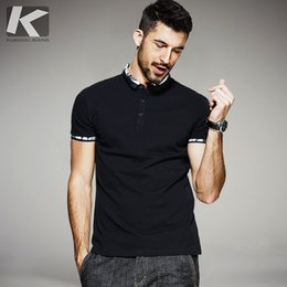 7f02c967c4e3 Kuegou New Summer Mens Polo Shirts Patchwork Black Color Brand Clothing For  Man  S Wear Short Sleeve Clothes Male Slim Tops 1545