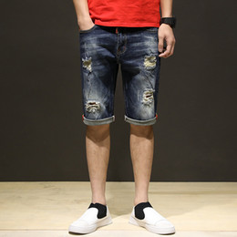 vintage mens clothing summer NZ - LKA Brand 2018 Summer Casual Jeans Shorts Men Trousers Fashion Vintage Straight Short Denim Mens Clothing