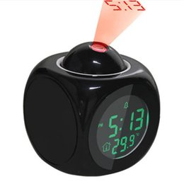Temperature Projection NZ - LCD Digital Projection Alarm Clock Time Temperature Display Reveil Projection Relojes Despertadores Desk Clocks Home Decor