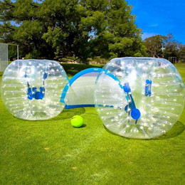 pvc footballs Canada - bumper ball zorb ball inflatable toys outdoor game Bubble Ball Football,Bubble Soccer 1.2 M, 1.5 M ,1.8 M PVC materials
