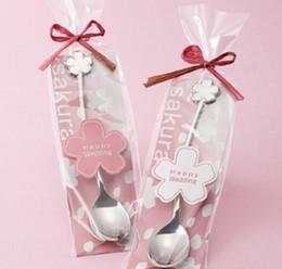 Flower spoon online shopping - Stainless Steel Coffee Spoon Sakura Flower Shape Spoons Easy To Clean Tea Scoop For Wedding Gift cp BB