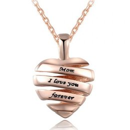 Discount love charm pendants gold - Best Gift for Mother Necklace Heart Pendant Charm