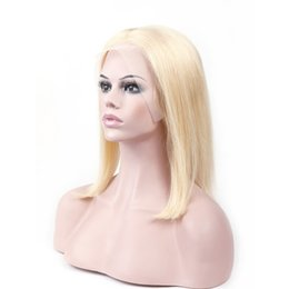 $enCountryForm.capitalKeyWord Australia - Blonde Wigs Human Hair Lace Front Wig Color #613 Brazilian Virgin Human Hair Wigs Color #613 Straight 13*3 Transparent Lace Front