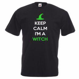Cool Unisex Kids Hats Australia - New Womens Mens Kids Keep Calm I'm A Witch Halloween Funny Hat T-shirt Age Cool Casual Pride T Shirt Men Unisex Fashion Tshirt